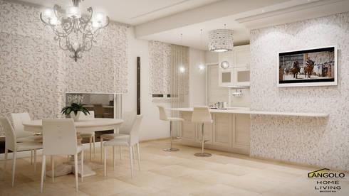 Cucina Classico Contemporaneo: Cucina in stile in stile Eclettico di LANGOLO HOME LIVING