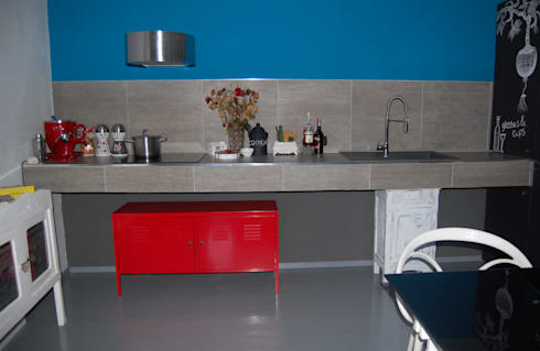 CUCINA IN MURATURA...: Cucina in stile in stile Eclettico di Inarte Progetti di Lucio Mana