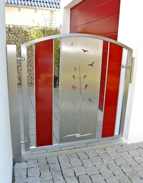 Jardín de estilo  por Edelstahl Atelier Crouse - Stainless Steel Atelier