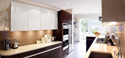 London Townhouse - Golders Green: modern Kitchen by Eliska Design Associates Ltd.