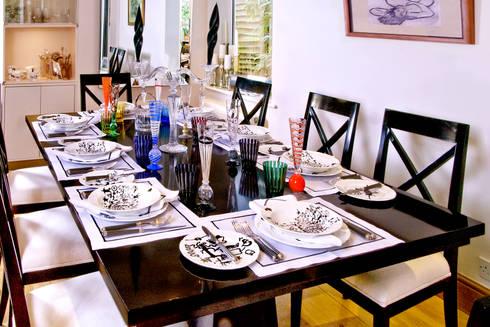 London Townhouse—Golders Green: modern Dining room by Eliska Design Associates Ltd.
