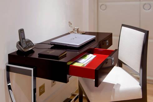 Craven Hill Gardens,  Apartment:  Study/office by Eliska Design Associates Ltd.