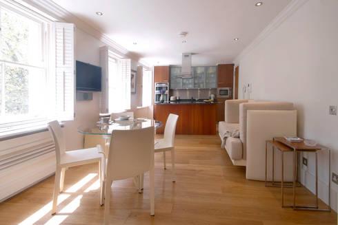 Craven Hill Gardens,  Apartment:  Kitchen by Eliska Design Associates Ltd.