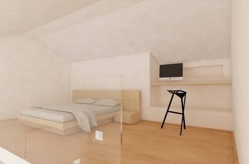 Bedroom: Camera da letto in stile in stile Moderno di aDC architetto Davide Conconi