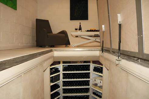 The Large Hexagonal Cellar: modern Wine cellar by Stone Cellar Company