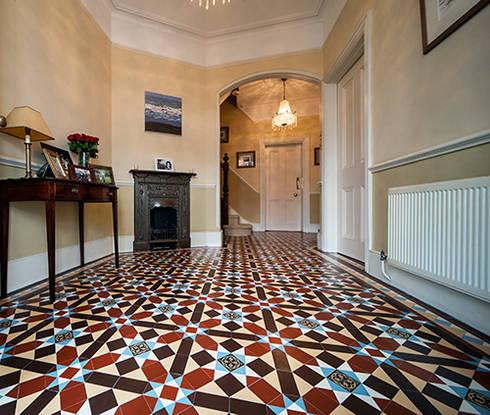 Geometric (Victorian) Tiles:  Walls & flooring by Original Features