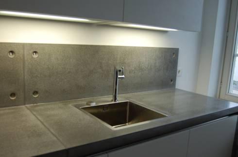 Betonküche sichtbeton betonküche harr betondesign homify