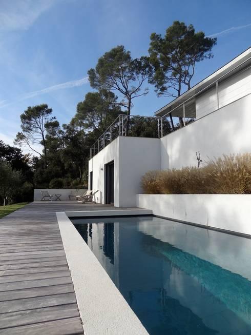 Villa contemporaine: Piscines  de style  par Casa Architecture
