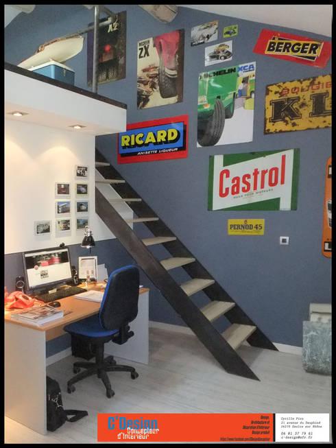 Bureau mezzanine: Bureau de style  par C'Design