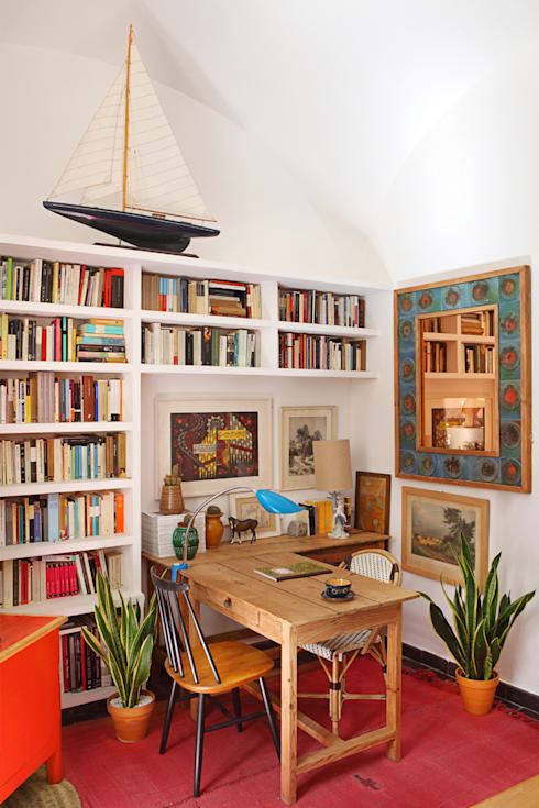 Apartamento en La Latina, Madrid: Estudios y despachos de estilo  de Casa Josephine