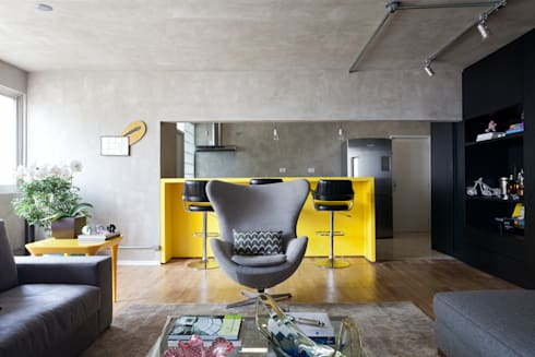 PROJETO PEIXOTO GOMIDE: Cozinhas modernas por Suite Arquitetos
