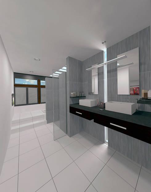 BAÑO H: Baños de estilo  por ANGOLO-grado arquitectónico