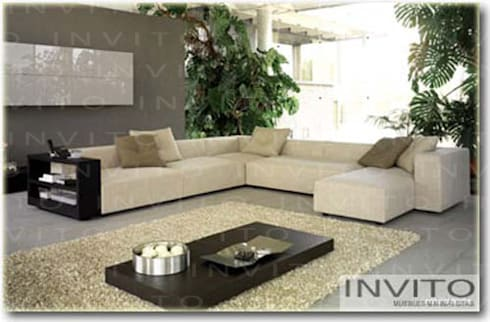 Salas INVITO: Salas de estilo minimalista por INVITO