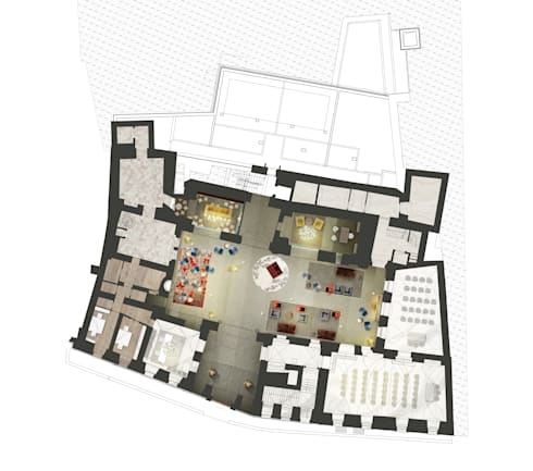 piano terra - hall:  in stile  di OPEN PROJECT