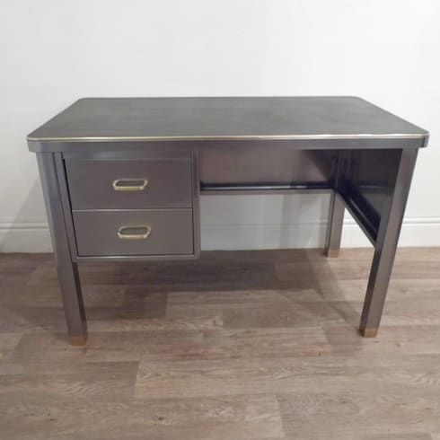 Vintage Industrial Desk: industrial Study/office by Travers Antiques