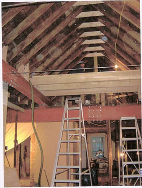 Refurbishment in progress:   by Christopher Cook Designs Limited
