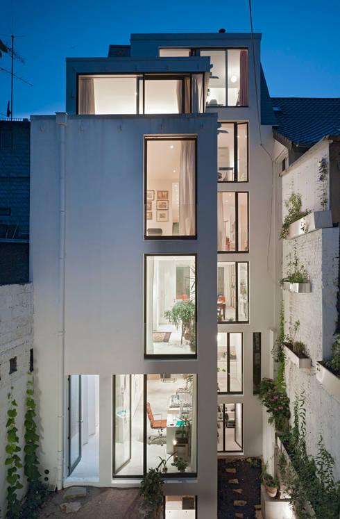 Gartenfassade:  Häuser von Marie-Theres Deutsch Architekten BDA