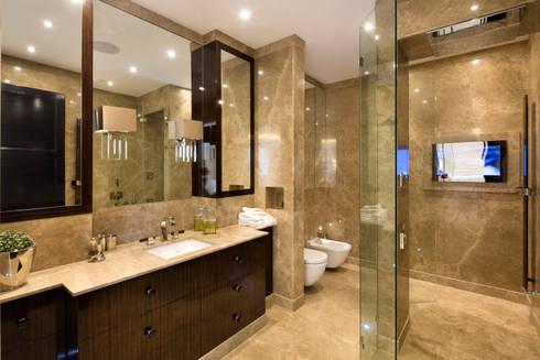Fairways at the Bishops Avenue: modern Bathroom by Celia Sawyer Luxury Interiors
