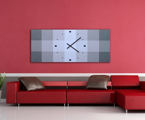 Relojes de pared dise o moderno by grecar idea sl homify - Reloj de pared modernos ...