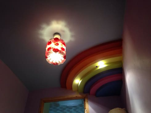 Rainbow ceiling:  Nursery/kid's room by Lancashire design ceilings