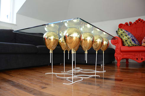 ​The Up Balloon Coffee Table gold:  Living room by Duffy London