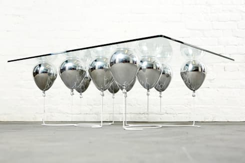 The Up Balloon Coffee Table silver:  Living room by Duffy London