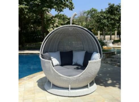 White Rotating Apple Daybed :   by Commercial Furniture UK LTD