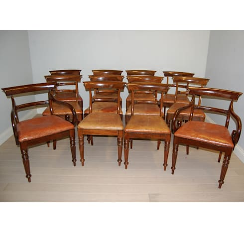 Rare set of 12 Regency dining chairs in rosewood: classic Dining room by info332