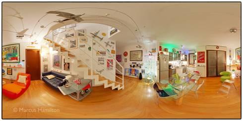 Eclectic Living Room 360: eclectic Living room by Hamilton 360