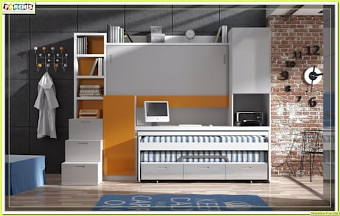 Litera Juvenil convertible para pared de Pladur:  de estilo  de Muebles Parchis. Dormitorios Juveniles.