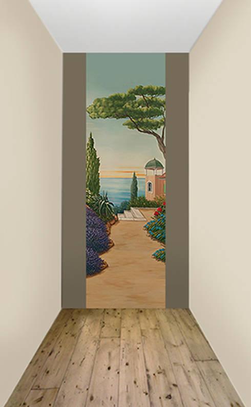 Papiers peints panoramiques trompe l 39 oeil par belmon d co homify - Deco trompe l oeil muurschildering ...
