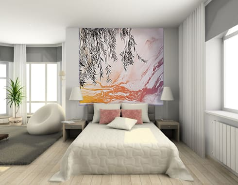 Posters xxl design cr ations exclusives d 39 artiste par belmon d co homify - Decorer grand mur blanc ...