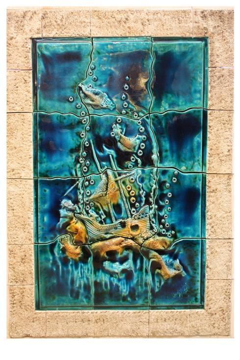 Ahmet Nejat Birdevrim – Deniz Dibi Pano:  tarz Sanat