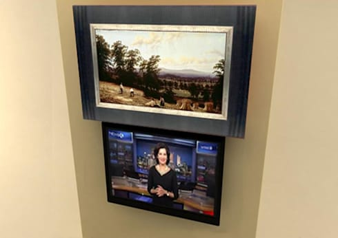 Elegant Décor & Ergonomic TV Solution: classic Bathroom by DECOLIFT