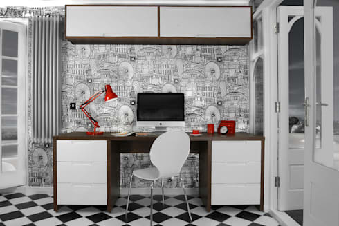 Designer Home Office:   by Tracey Andrews Interiors