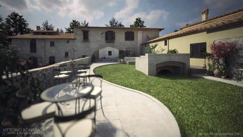 Villa Vittoni - Esterno: Case in stile in stile Rustico di Vittorio Bonapace 3D Artist and Interior Designer