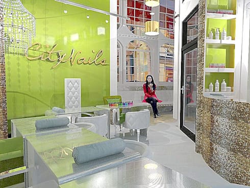 Nail Bar:  Commercial Spaces by ULA Interiors