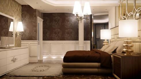 Night Luxury : Camera da letto in stile in stile Eclettico di FRANCKSONN HOME srls