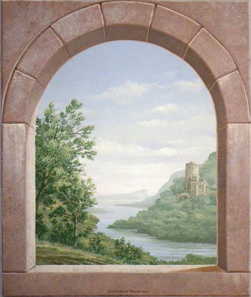 TROMPE L'OEIL CON ARCO:  in stile  di ITALIAN DECOR