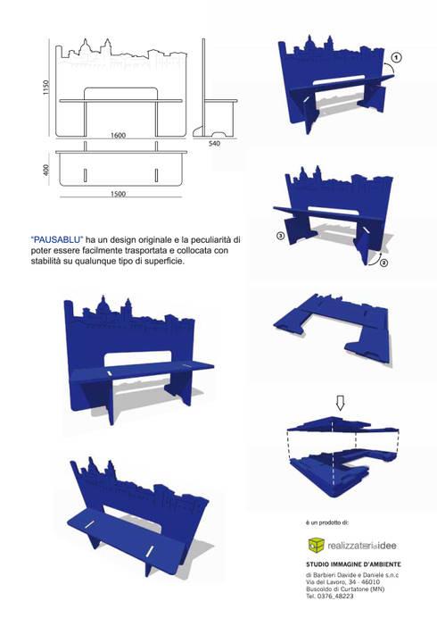 PAUSABLU: Sala da pranzo in stile in stile Eclettico di REALIZZATORI DI IDEE