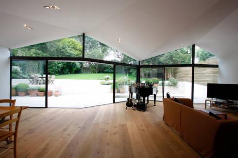 Sheldon Avenue: eclectic Living room by IQ Glass UK