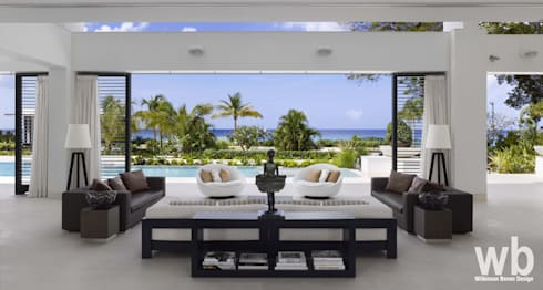 Modern Caribbean Villa: modern Living room by Wilkinson Beven Design
