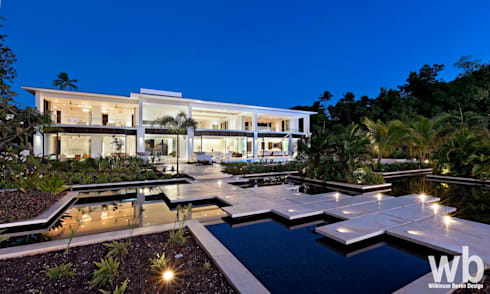 Private Caribbean Villa: modern Houses by Wilkinson Beven Design