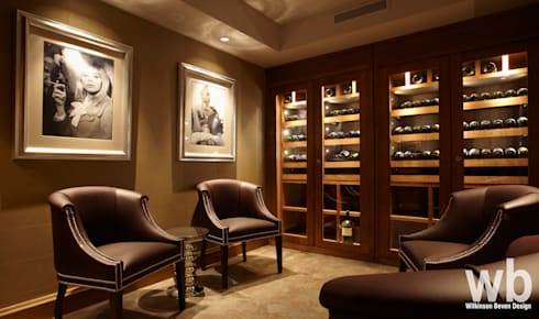 Wine Cellar: eclectic Wine cellar by Wilkinson Beven Design