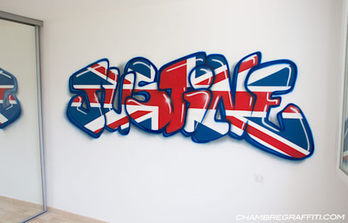 Chambre graffiti by barograff homify for Chambre calme en anglais