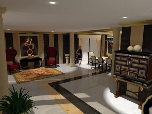 Diseño clásico con pinceladas modernas / Classic design with a modern touch: Salones de estilo clásico de Julia Design