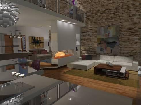 Loft de dos pisos / Two floor loft: Casas de estilo moderno de Julia Design