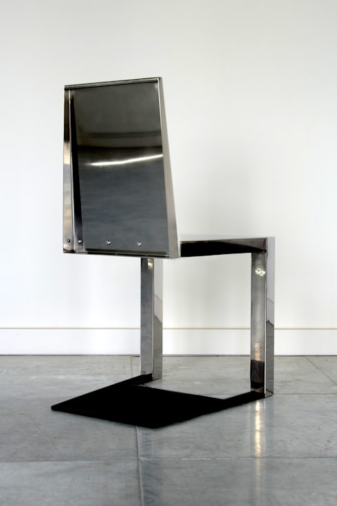Stainless Steel Shadow Chair: eclectic Kitchen by Duffy London