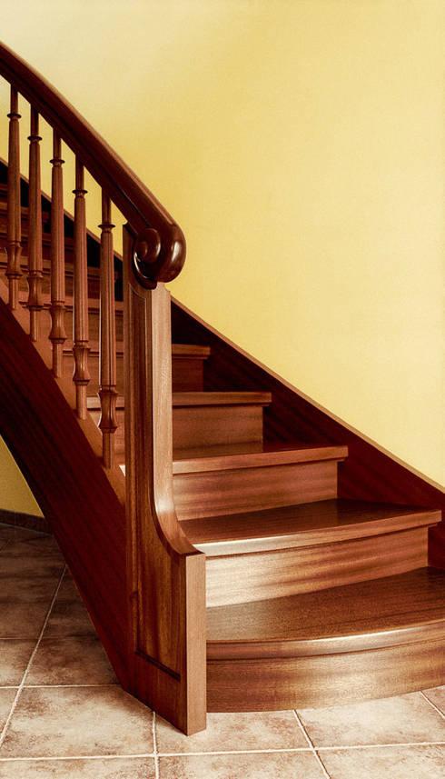 Vestíbulos, pasillos y escaleras de estilo  de Daniel Beutler Treppenbau