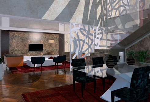 Salón / Comedor infografia: Casas de estilo  de CANOCARTERETdesign&execution